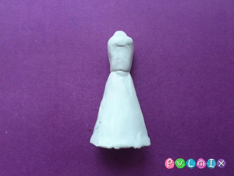 Как слепить принцессу Лею из пластилина - шаг 10
