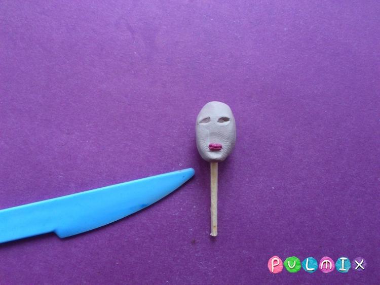Как слепить принцессу Лею из пластилина - шаг 3