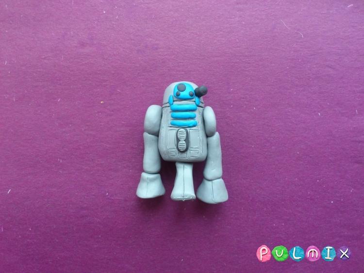 Как слепить робота R2-D2 из пластилина поэтапно - шаг 10