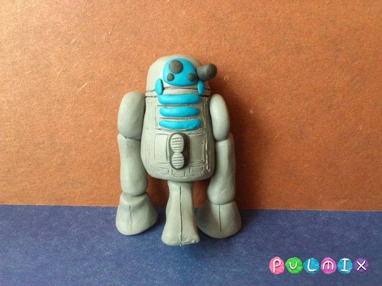 Как слепить робота R2-D2 из пластилина поэтапно - шаг 11