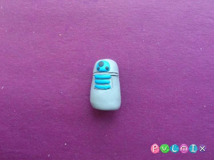Как слепить робота R2-D2 из пластилина поэтапно - шаг 5