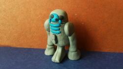 Как слепить робота R2-D2 из пластилина поэтапно