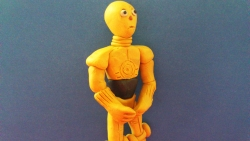 Как слепить из пластилина робота С-3РО из фильма Звездные войны