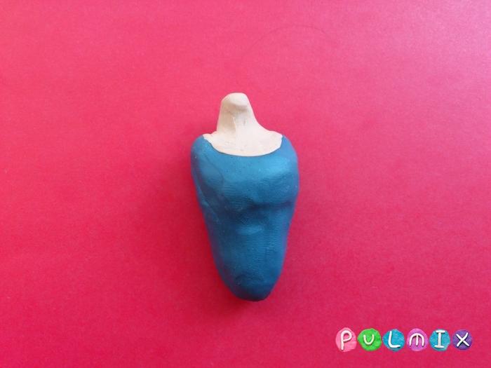 Золушка из пластилина поэтапный урок - шаг 11