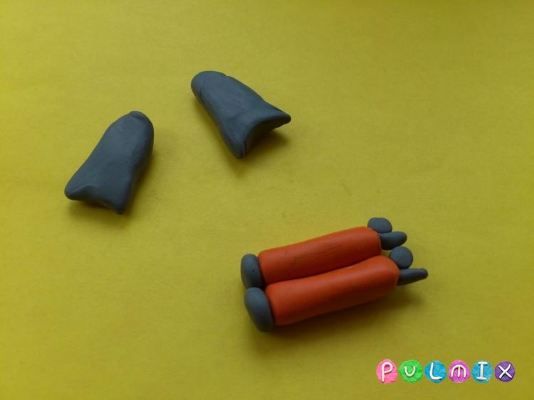 Как слепить водолаза из пластилина своими руками - шаг 4