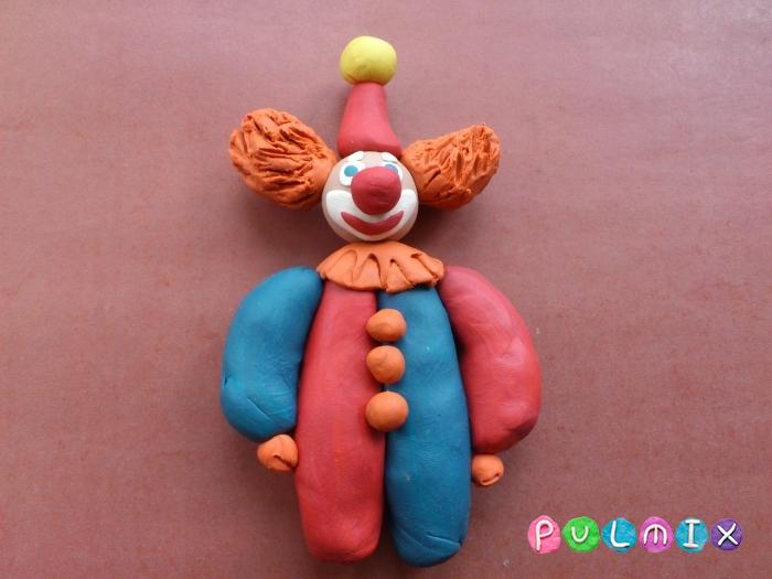 Как лепить клоуна из пластилина поэтапный урок - шаг 11