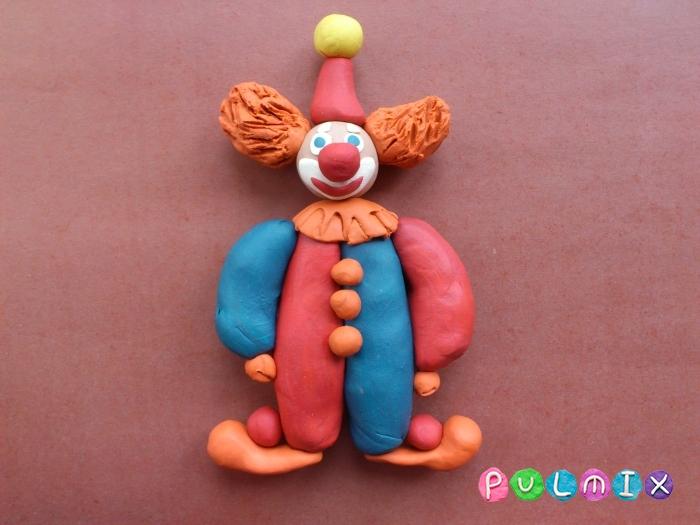 Как лепить клоуна из пластилина поэтапный урок - шаг 12