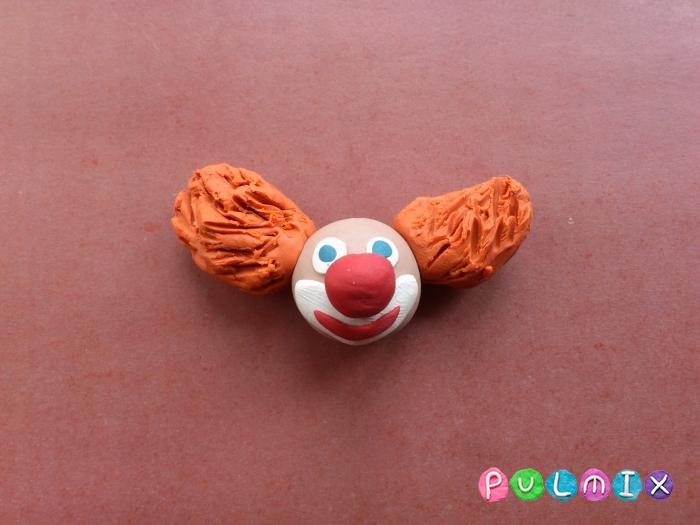 Как лепить клоуна из пластилина поэтапный урок - шаг 3