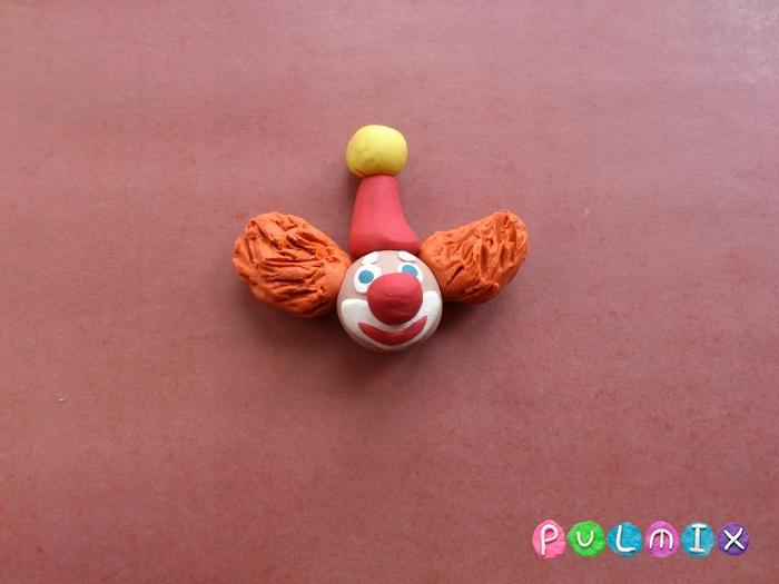 Как лепить клоуна из пластилина поэтапный урок - шаг 4