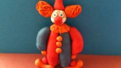 Как сделать клоуна из пластилина