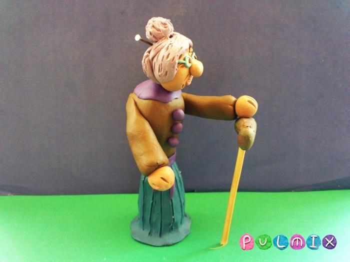 Как слепить бабушку из пластилина поэтапно - шаг 12