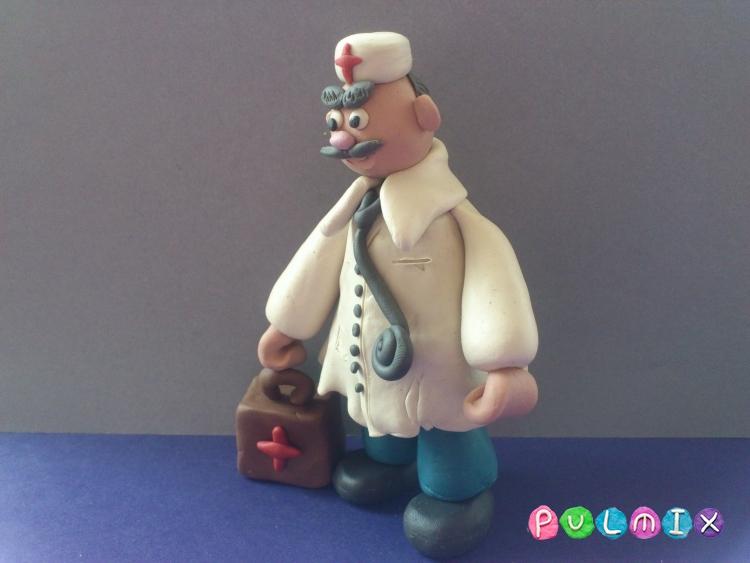 Как слепить доктора из пластилина поэтапно - шаг 14