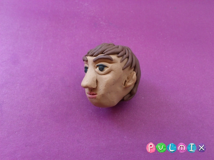Как слепить голову человека из пластилина поэтапно - шаг 10