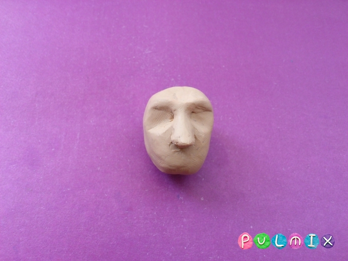 Как слепить голову человека из пластилина поэтапно - шаг 4