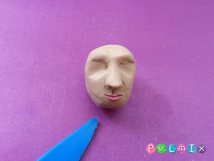 Как слепить голову человека из пластилина поэтапно - шаг 5
