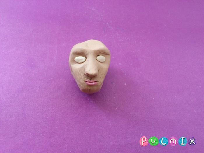 Как слепить голову человека из пластилина поэтапно - шаг 6