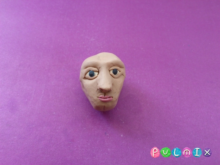 Как слепить голову человека из пластилина поэтапно - шаг 7