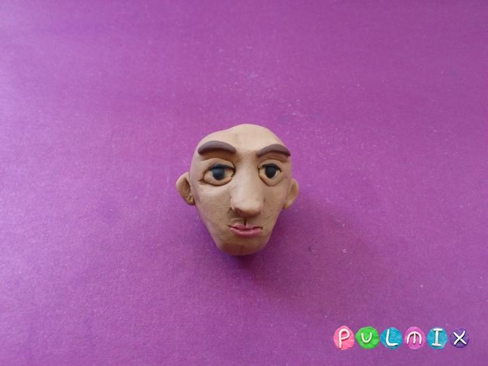 Как слепить голову человека из пластилина поэтапно - шаг 8