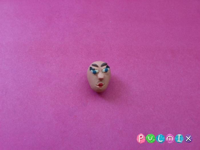 Как слепить из пластилина принцессу поэтапный урок - шаг 4
