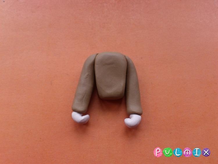 Как слепить мальчика из пластилина поэтапно - шаг 6