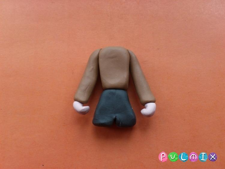 Как слепить мальчика из пластилина поэтапно - шаг 8