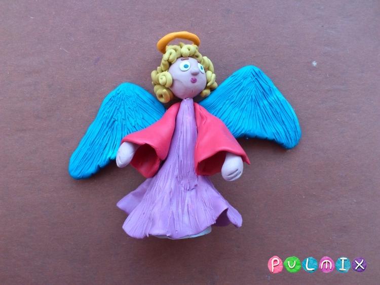 Как слепить ангела из пластилина фото урок - шаг 13