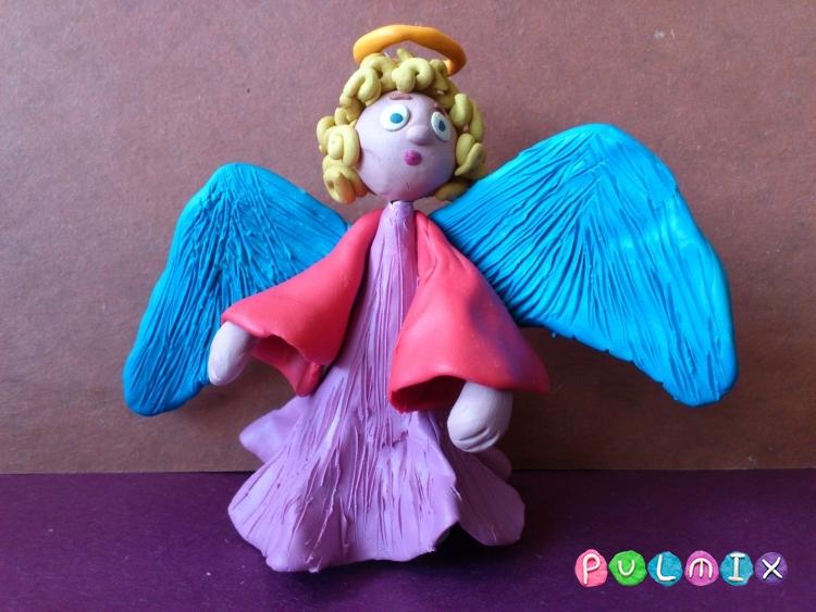 Как слепить ангела из пластилина фото урок - шаг 14
