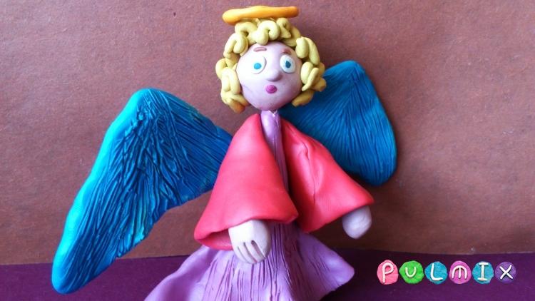 Как слепить ангела из пластилина фото урок