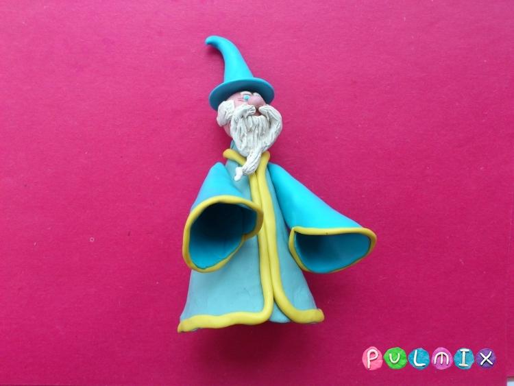 Как слепить волшебника из пластилина поэтапно - шаг 17