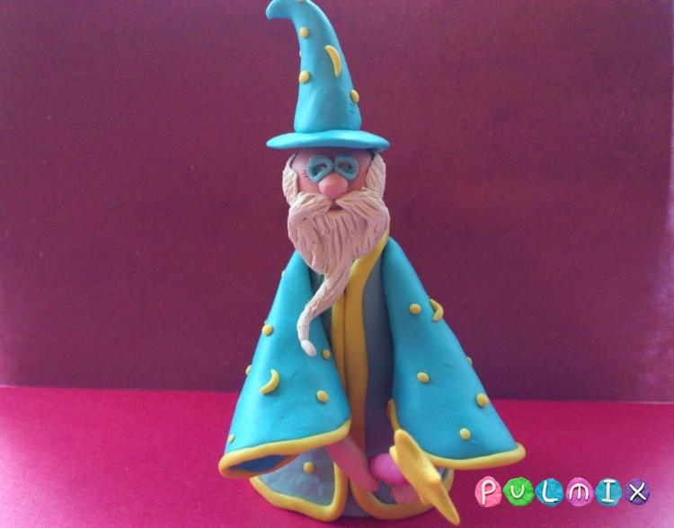 Как слепить волшебника из пластилина поэтапно - шаг 21