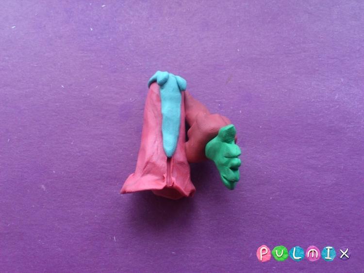 Как слепить зомби из пластилина урок с фото - шаг 8