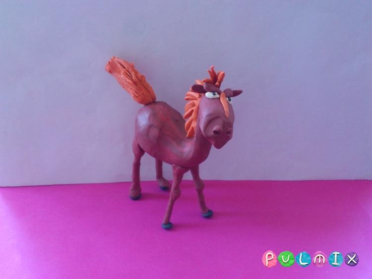 Как слепить коня Юлия из пластилина - шаг 11