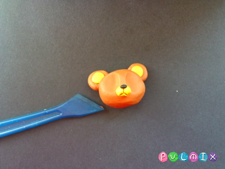 Как слепить медвежонка пет шопа из пластилина - шаг 4