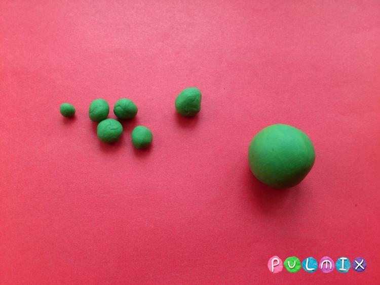 Как слепить пет шопа черепашку из пластилина - шаг 3