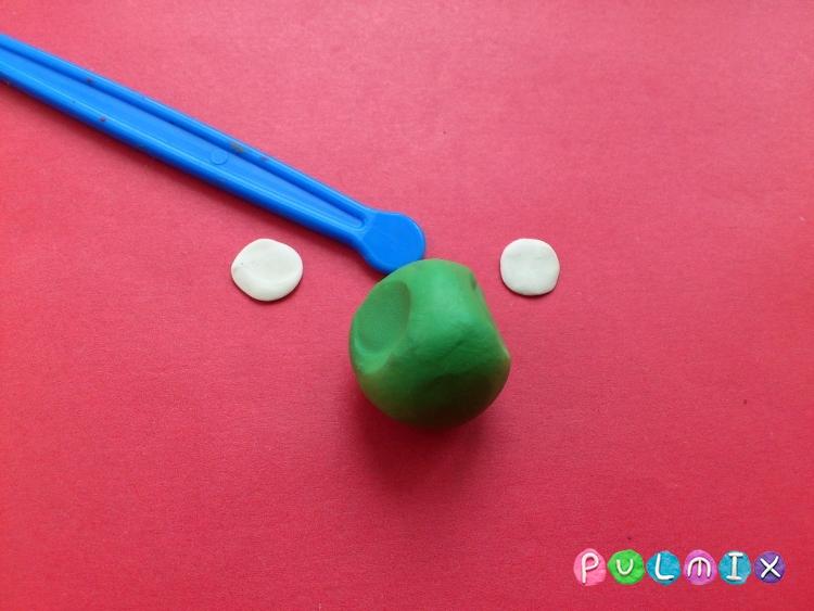 Как слепить пет шопа черепашку из пластилина - шаг 7