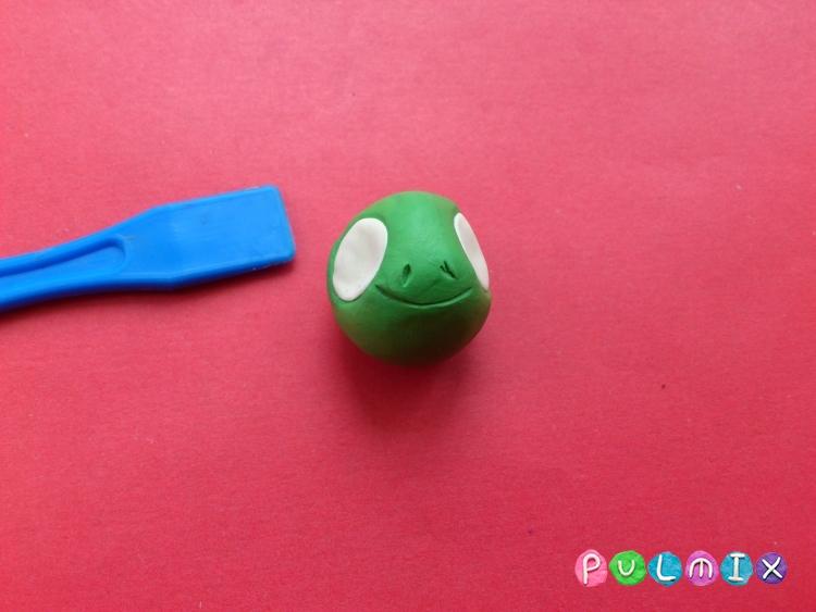 Как слепить пет шопа черепашку из пластилина - шаг 8