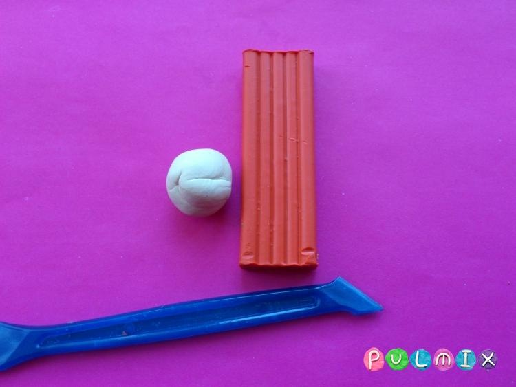 Как слепить пет шопа лисичку из пластилина - шаг 1