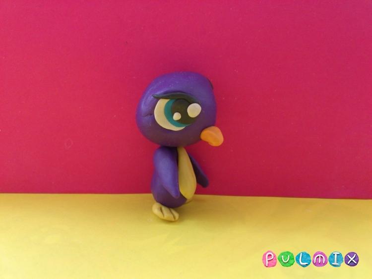 Как слепить пет шопа пингвиненка из пластилина - шаг 10