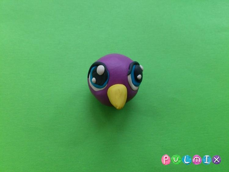 Как слепить пет шопа попугая из пластилина - шаг 4