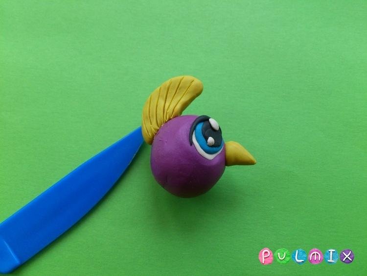 Как слепить пет шопа попугая из пластилина - шаг 5