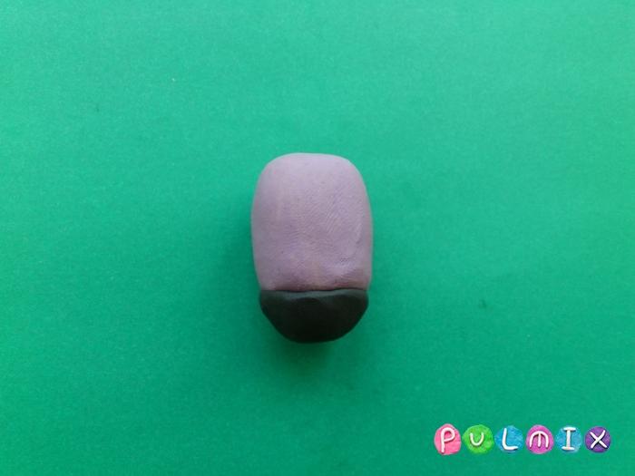 Как лепить из пластилина фиолетового миньона - шаг 3
