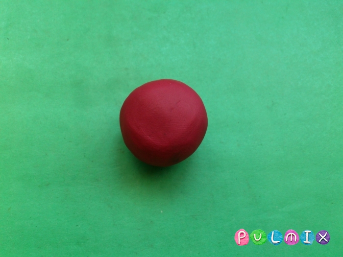 Как лепить из пластилина смешарика Ежика - шаг 1