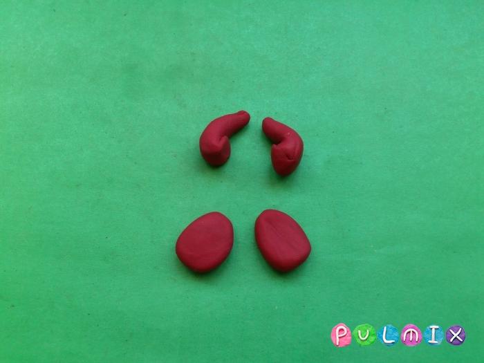 Как лепить из пластилина смешарика Ежика - шаг 6