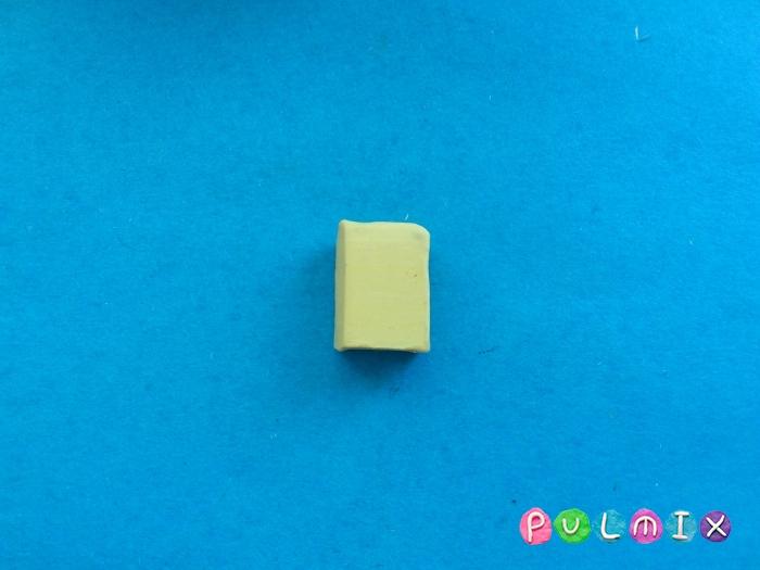 Как сделать губку боба из пластилина поэтапно - шаг 2
