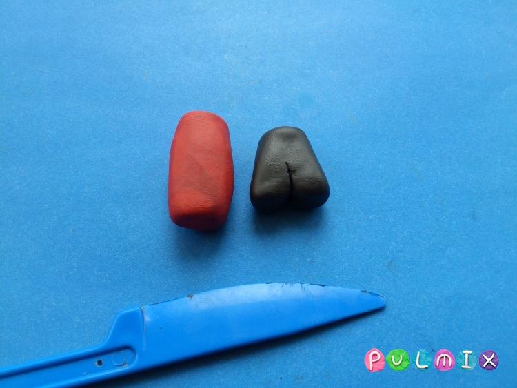 Как сделать Малыша из пластилина героя Малыш и Карлсон - шаг 6