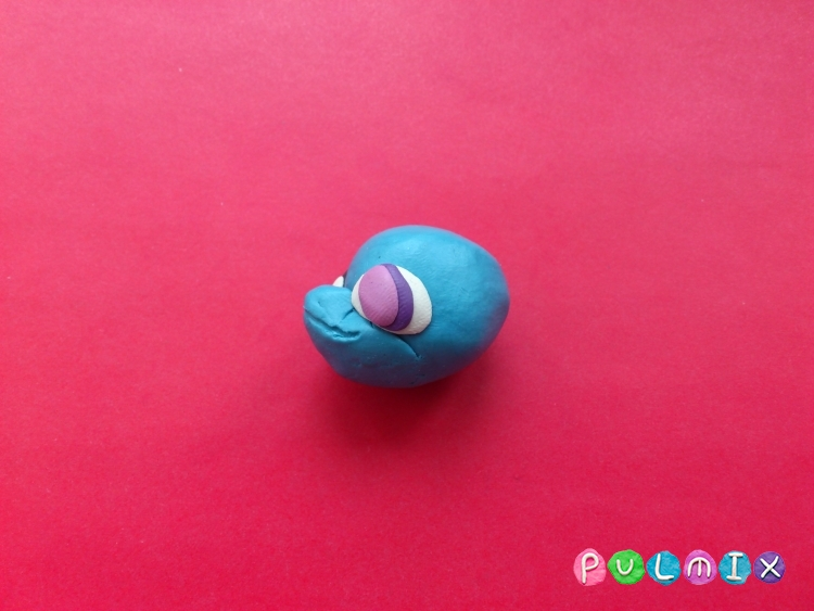 Как слепить Pet Shop дельфинчика из пластилина - шаг 5