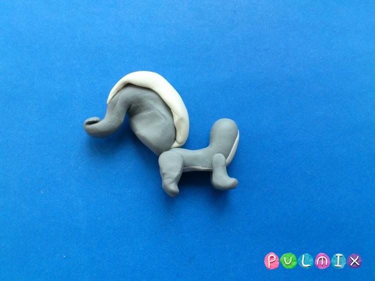 Как слепить Pet Shop скунса Пеппера из пластилина - шаг 12