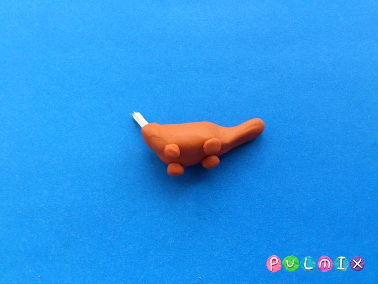 Как слепить Pet Shop утконоса из пластилина - шаг 10