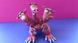 Как слепить Змея Горыныча - персонажа мультфильма о трех богатырях