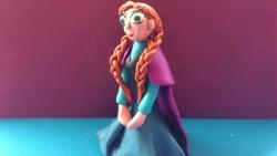 Как слепить Анну персонажа мультфильма Холодное сердце